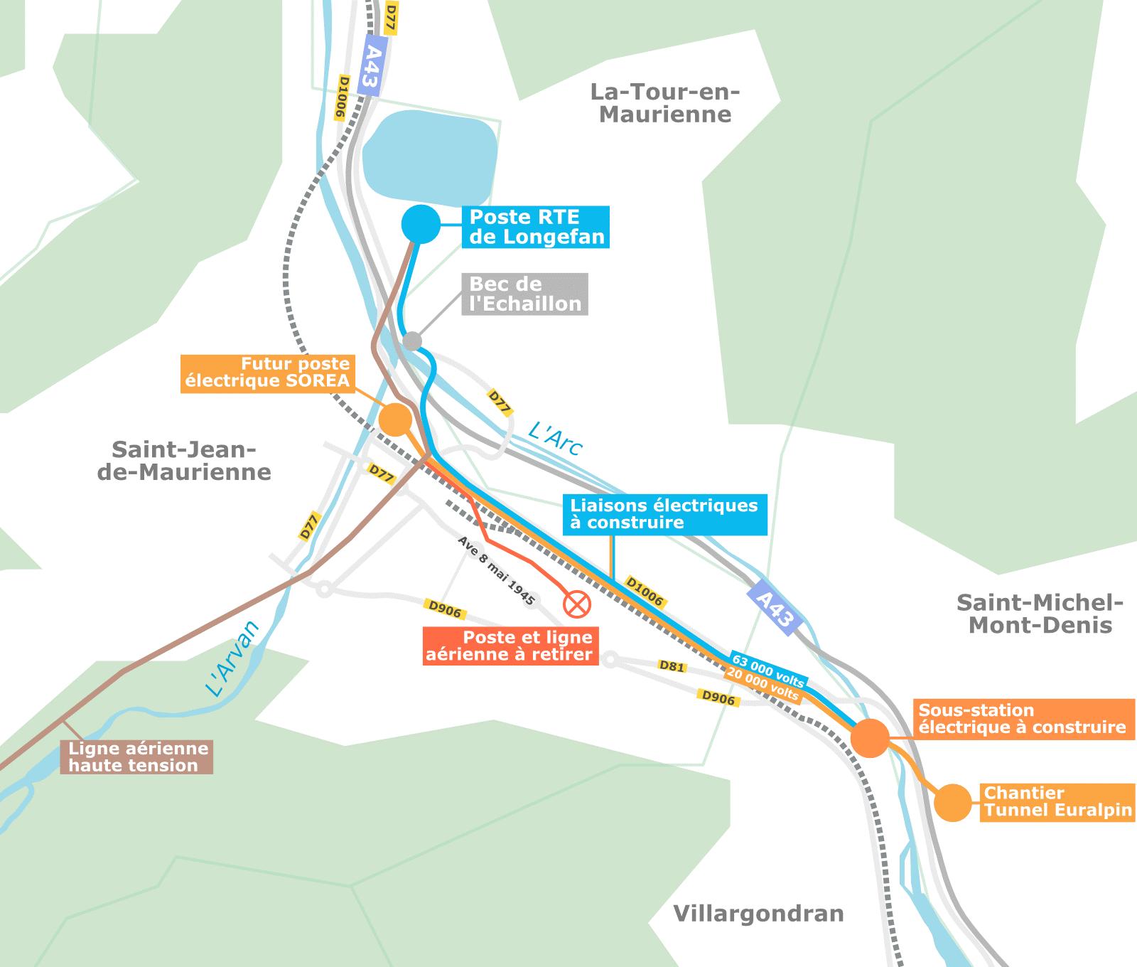 Travaux Lyon-Turin RTE-SOREA