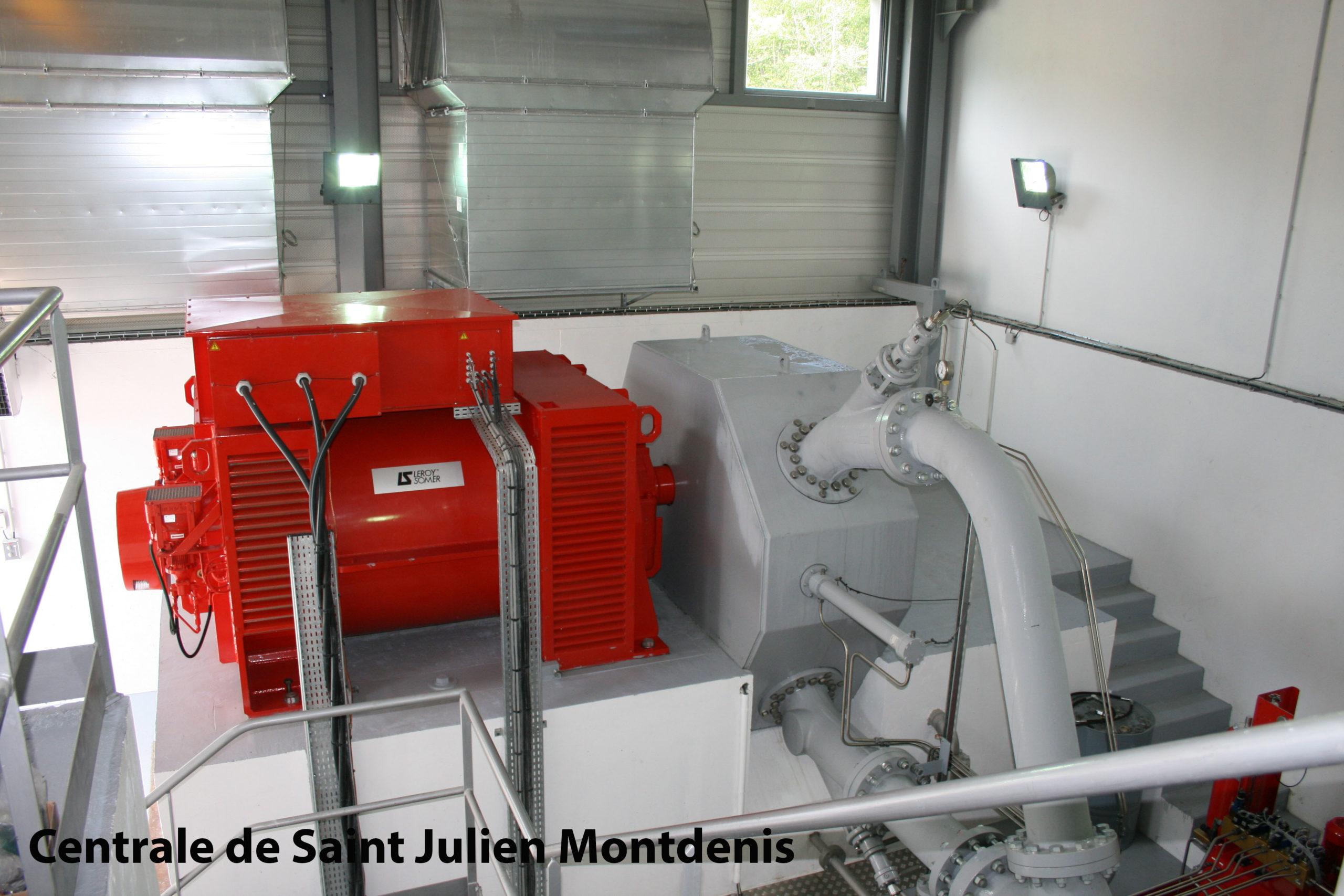 Centrale hydraulique de Saint-Julien-Montdenis Soréa Maurienne