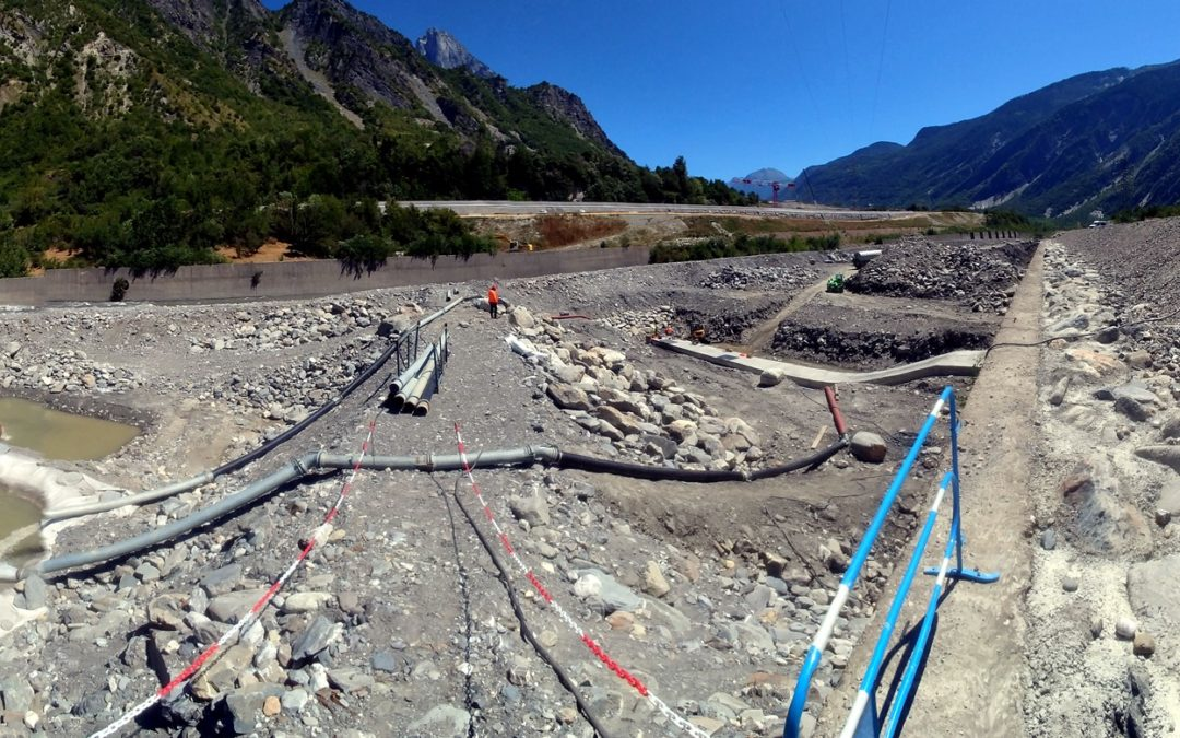 Ensouillage de câble sous l'Arc (Villargondran)