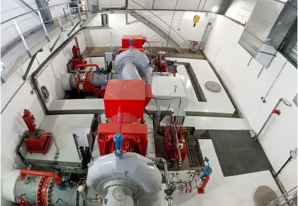 Remise à neuf des turbines de la centrale des Clapeys